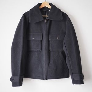 Lemaire wool blend fleece jacket Uniqlo